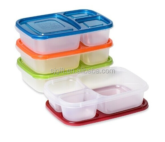 premium eco friendly 3 compartment bento lunch box containers for kids multi color buy lunch. Black Bedroom Furniture Sets. Home Design Ideas