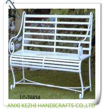 2014 hot sale outdoor wrought iron garden bench