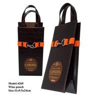 DIY Leather Wine Bag,Popular Gift Bag For Red Wine
