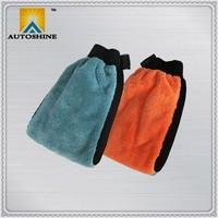 Manufacturer Directly Popular Design Super Microfiber Car Wash Mitt with Waterproof PVC Lining
