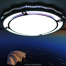 Modern round acrylic dimmable light ceiling lamp for hotel