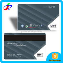 credit card size embossed cheap pvc card and plastic vip card