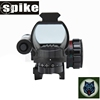 Red and green dot 4 type reticle reflex sight scope with red laser sight and 22mm rail for optical riflescope