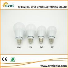 Hot new aluminum 5w,7w,9w,12w led bulb a60 buy in china