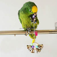 Lovely Bird Hanging Bell Cage Parrot Bite Toys Colorful Plastic Belling Toy Suitable For Budgie Cockatoo