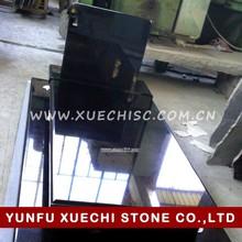 Shanxi black granite headstone ,absolute black granite tombstone