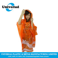 Lowest Price biodegradable color choice rain poncho