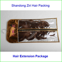 pvc human hair wig bag ,vinyl hair wig bag,plastic natural hair wig