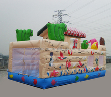 Popular use good sale fire truck inflatable bounce housefor kids with CE approved