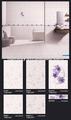 púrpura cerámica cerámica para 300x450mm cuarto de baño