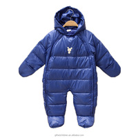 Wholesale Quality Baby Winter Quick All Over Puffer Snowsuit With Hood
