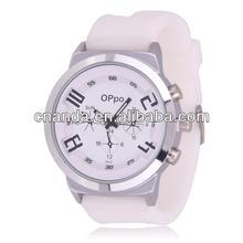 Unisex Large Face Fashion 2014 Hotsale Silicone Bracelet Bubble Watch