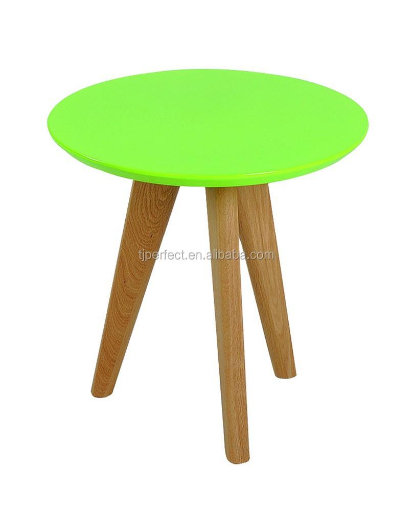 Mdf ronde houten tafel in het midden massief beuken hout ...