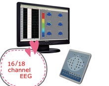 24 hours continuous record brain waves 16 or 18 Channel Digital EEG device electroencephalo-graph electroencephalogram