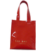 PVC shopping bag glossy shopper tote harrod customized bag high quality