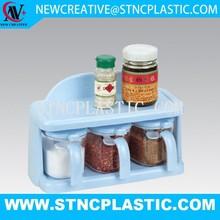 Oval shaped plastic spice jars/plastic cruet/cruet set
