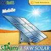 1.5KW portable solar power system
