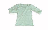 Children blank 100% cotton t-shirts kids pure cotton long sleeve plain color t-shirts o-neck 6 sizes