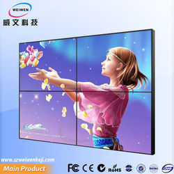 46inch high brightness led samsung narrow bezel HDMI DVI input videowall with controller