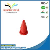 Rubber duckbill valve for carburetors