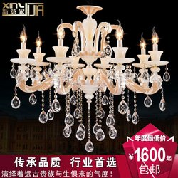European candle chandeliers bedroom living room dining lamp lighting luxury jade Zinc Alloy Crystal Light