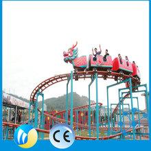 Track flying rides roller coaster game flying train roller coaster for sale