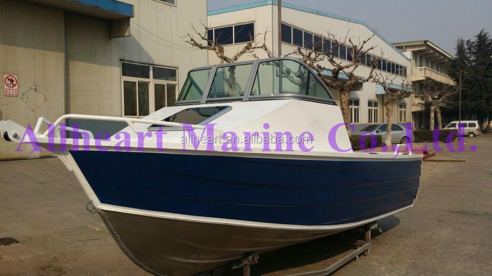 Australia standard aluminum cuddy cabin bay boat for for Aluminum boat with cabin for sale