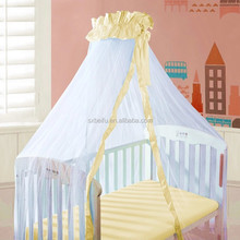 LLIN white color princess knitting net mesh fabric for baby crib baby mosquito net