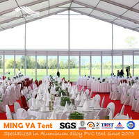 500 People Luxury Transparent Clear Roof Wedding Tent