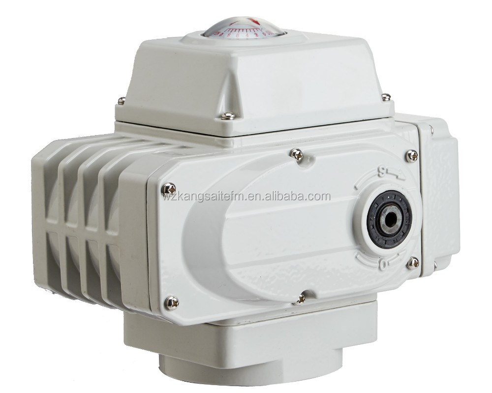 Rotary Motorized Motor, Electrical Actuator with 220VAC and ISO 5211 Mounting Pad