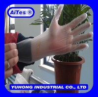 Disposable powdered/powder free gloves vinyl ,this is powder gloves price