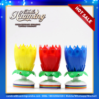 beatiful openning flower birthday candle