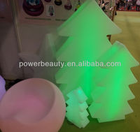 PE plastic Christmas decorating lighting led tree light for outdoor / indoor