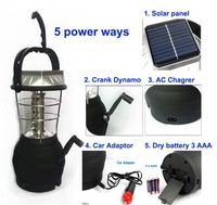 New products Solar rechargeable camping lantern 36LED Hand Shake Solar Camping Lantern