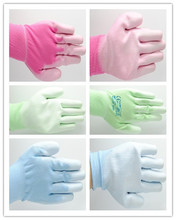 13 gauge knitted polyester liner coated pu working gloves