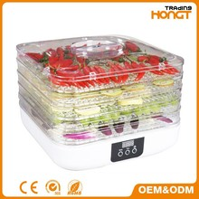 New style digital electric food dehydrator with 6 trays