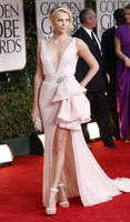 Charlize Theron Sexy Evening Dress 2012 Golden Globes Awards Red Carpet Gown