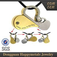 Reasonable Pricing Sgs Custom Shape Engraved Guardian Angel Pendant For Men