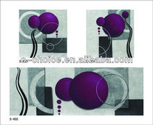Wholesale abstract paint by numbers triptyches canvas painting