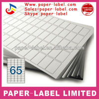 A4 paper blank laser 65 sheets labels