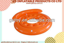 PVC round with cup holds portable large inflatable party island rafts EN71 approved