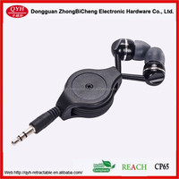 China made Cheap price Retractable Earphone For Mp3 / Mp4 Players and mobile phone