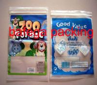PE ZOO TOY PLASTIC BAG WITH ZIPPER