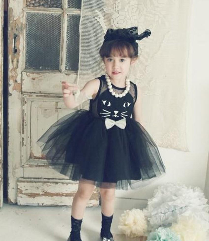 Black dress for baby girl - 2016 Korean Style Kids Tutu Dress Girls Kitty Fluffy Dress Baby Girl Party Dress Kids Clothes Wholesale Buy Girl Dress Baby Girl Birthday Dresses Girl