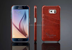 leather back cover case for samsung s6, pu leather case for s6 cover, wallet leather case for samsung s6