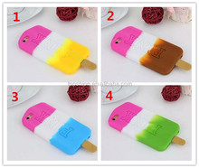 Newest for silicone iphone case, for iphone 6 silicone case mix color with ice cream/popsicle pattern