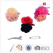 Atacado New Arrival colorido Artificial da flor do cabelo Grips grampos