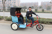 high qulity electric tricycle for passenger seat