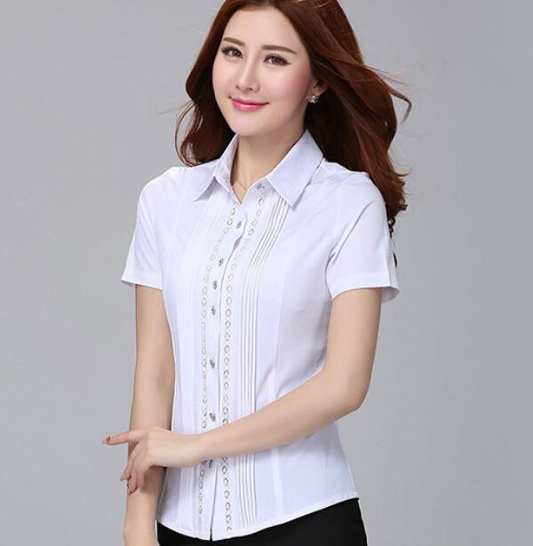 D16594a 2015 blusas de la oficina para mujer ropa de manga for Oficina western union sevilla