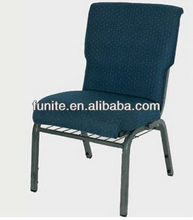 Stackable church chairs with padded